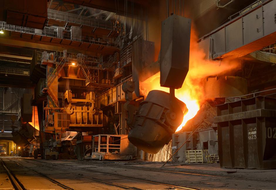 Висока пећ се користи за пречишћавање руде и њено претапање у растопљено гвожђе. Тренутно у НЛМК-у раде четири овакве пећи.