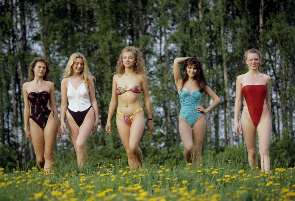 Teilnehmerinnen des Schönheitswettbewerbs Miss UdSSR, 1989.