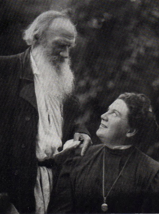 """Love is life. Everything that I understand, I understand only because I love. Everything is, everything exists, only because I love. Everything is united by it alone. Love is God, and to die means that I, a particle of love, shall return to the general and eternal source."" / 1908, Leo Tolstoy with his daughter Alexandra"