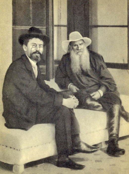 """And all people live, not by reason of any care they have for themselves, but by the love for them that is in other people."" / 1901, Leo Tolstoy and Anton Chekhov, a Russian playwright and writer"