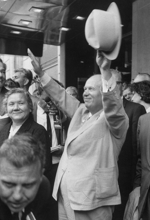 8. Greet your ideological opponents // Nikita S. Khrushchev and his wife during their tour of US.