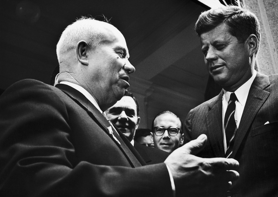 9. Try to strike the right note with them // Khrushchev and U.S. President John Fitzgerald Kennedy in Vienna, Austria on June 04, 1961