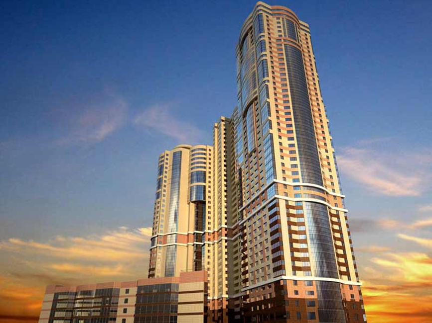 48階建てのウェルハウス集合住宅のアパートの価格帯は1700万ルーブルから1億ルーブル(約5100万円~3億円)である。合計655戸ある。