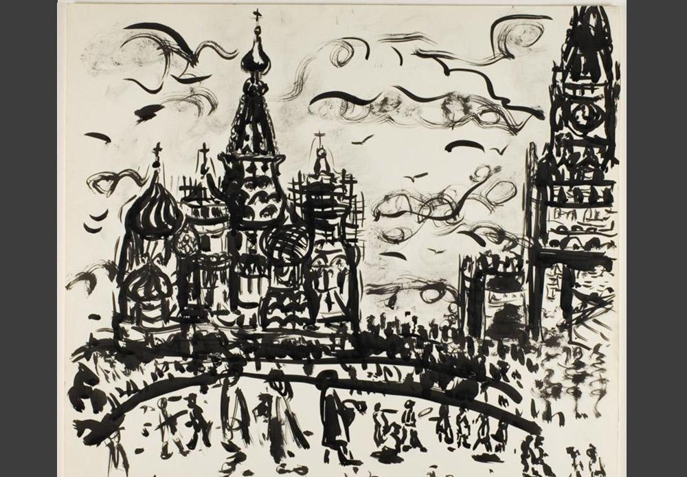 Ivan Albright je američki umjetnik, slikar i crtač. Mnogo je putovao po svijetu i uvijek bio opsjednut sitnim detaljima. Zidove ateljea u Sjedinjenim Državama obojio je u crno, a uvijek se i oblačio u odjeću crne boje kako bi izbjegao odsjaj. Na jednako zahtjevan način pristupio je i prikazivanju Moskve. Moskva, Ivan Albright, 1967.