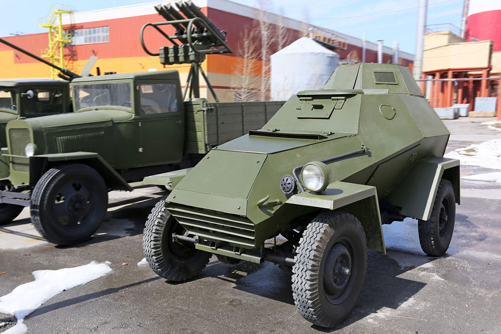 The BA-64 was the Soviets' first serially produced four-wheel drive armored car, which entered military service during the war.