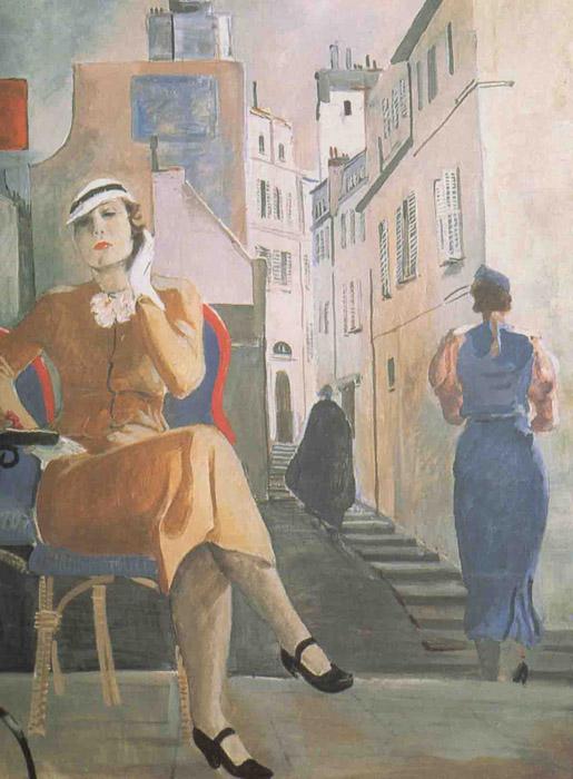 """През 1935 г. художникът посещава САЩ, Франция и Италия. Плод на това пътуване е поредица от градски пейзажи и портрети. / """"Парижанка"""", 1935 г."""