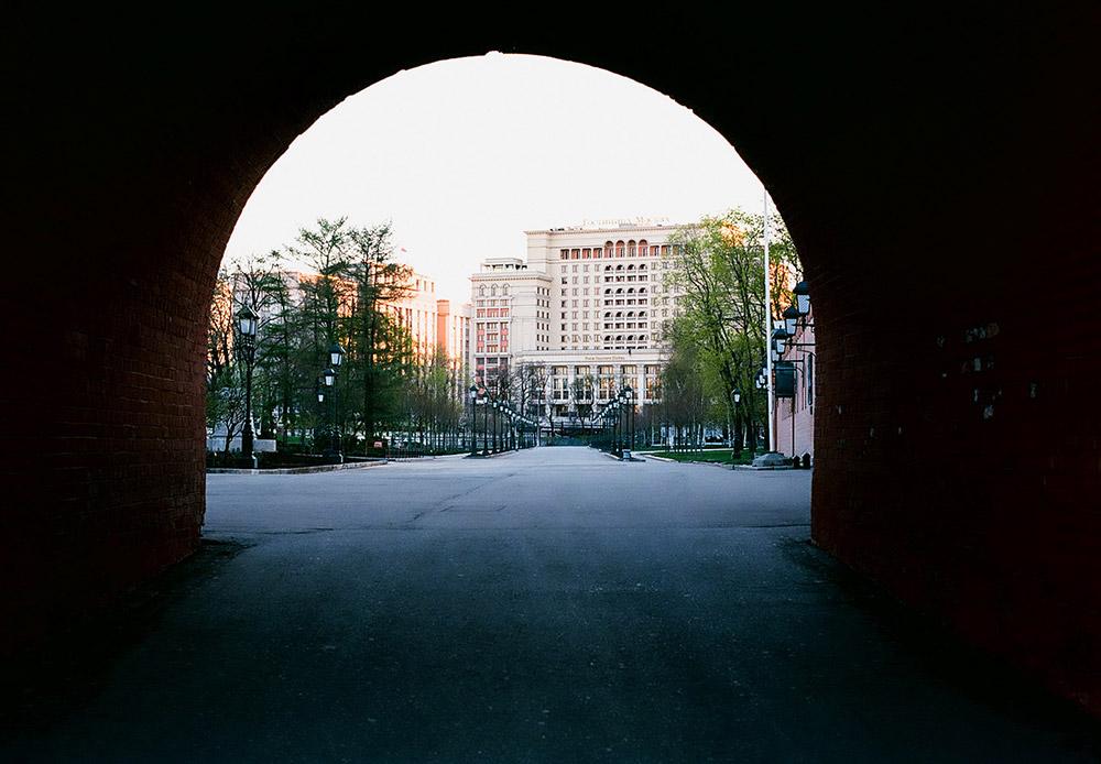 Aleksandrovi vrtovi – pogled na Hotel Moskvu