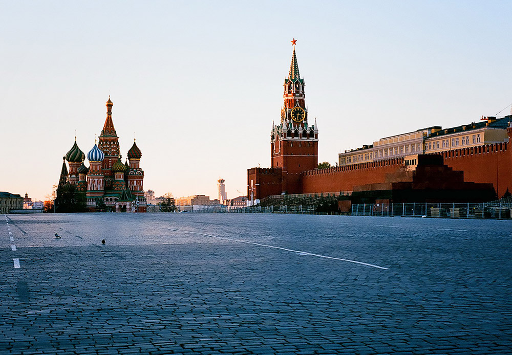 Lapangan Merah, pemandangan Kremlin dan Katedral St. Basil