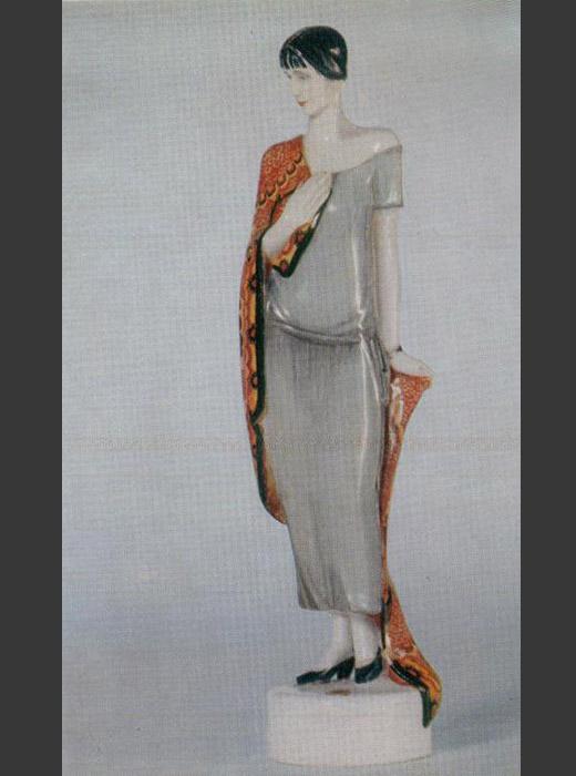 Skulptur von Anna Achmatowa. Anna Achmatowa (1889-1966) war eine berühmte russische Dichterin, Übersetzerin und Literaturkritikerin. 1924.