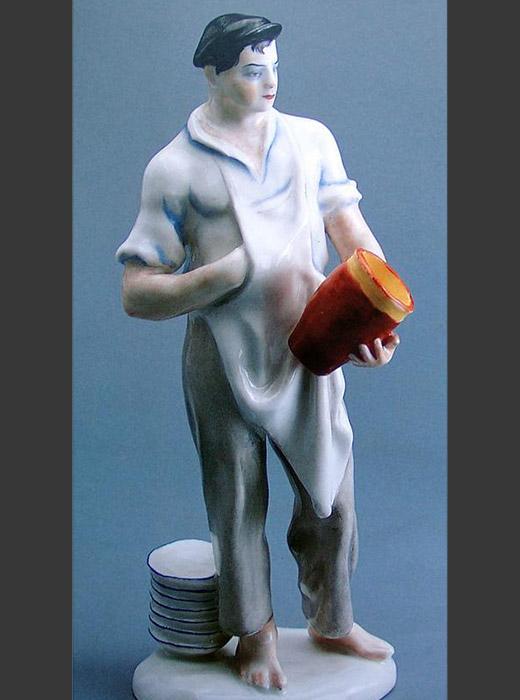 Skulptur eines Töpfers. 1926.