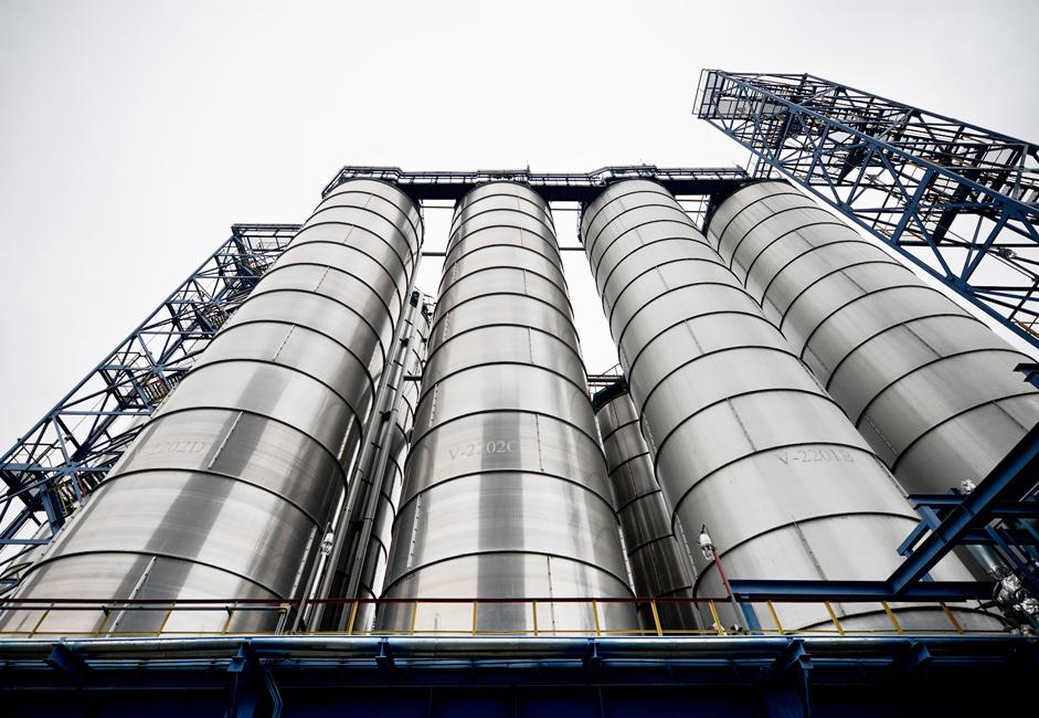 Фабрика тренутно производи полиетилен, полиетиленске цеви, фенол, ацетон, етилен гликол, етаноламин, бисфенол А, поликарбонанте и остале производе који се добијају органском синтезом.