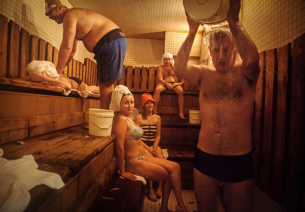 ニューヨーク、ブライトン・ビーチにある最も古いロシア式・サウナ 2013年1月26日