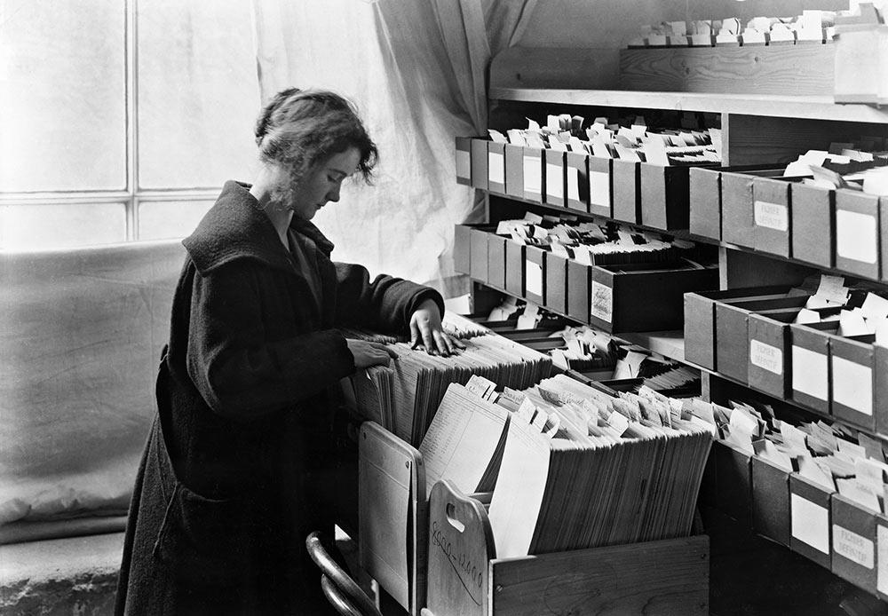 国際戦時捕虜情報局。行方不明兵士部。1914-1918