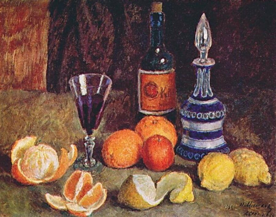 18世紀初頭、ロシアでは、静物画が絵画の独立したジャンルとして確立された。このジャンルに取り組むアーティストたちは、さまざまな方法を用いて、周囲にある物体との自分の関係を寓意的に表現した。ここに、ロシア人画家による17点の静物画の作品を集めてみた。 // 「静物画」、イリヤー・マシコフ、1938年
