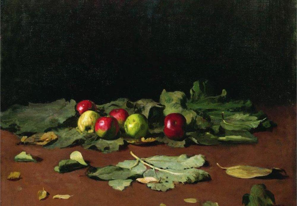 リンゴと葉、イリヤー・レーピン、1879年
