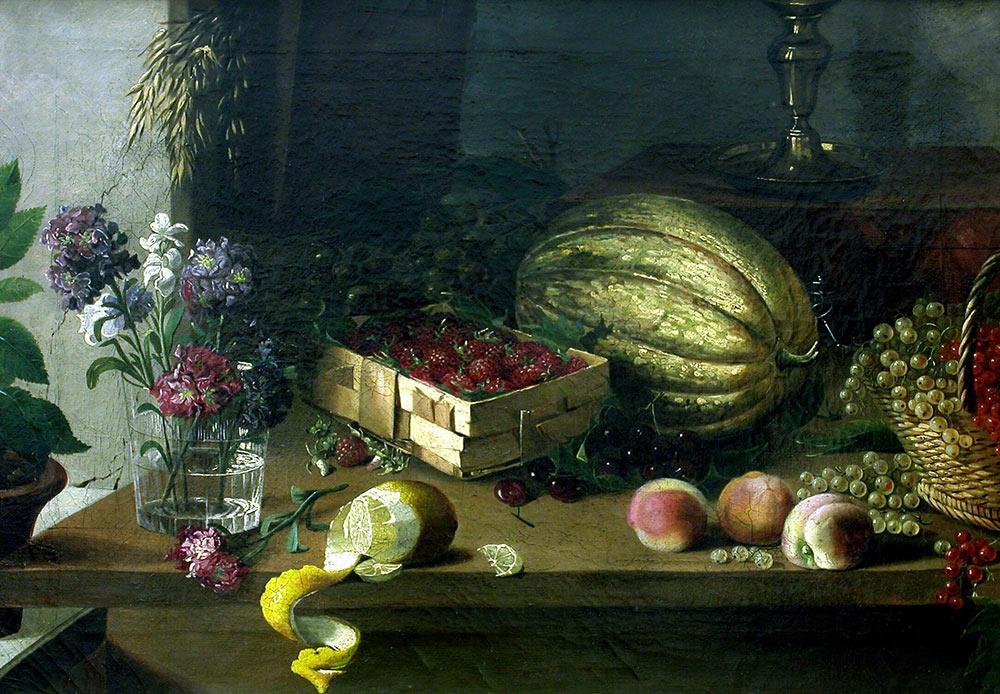 花と果物、イヴァン・フルツキー、1830年代
