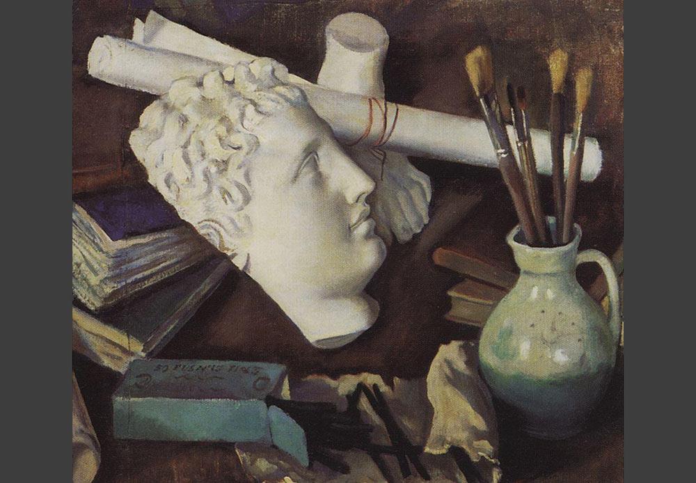 20世紀までは、静物画は絵画に入門する者が習得すべき「学習」のジャンルとみなされており、まともな画家が取り組むべきものではないとされていた。20世紀初頭は、ロシアの静物画の全盛期とされ、静物画が他のジャンルと同等の地位を確立した時代だった。// 「美術の特性の静物画」、ジナイダ・セレブリャコーワ、1922年