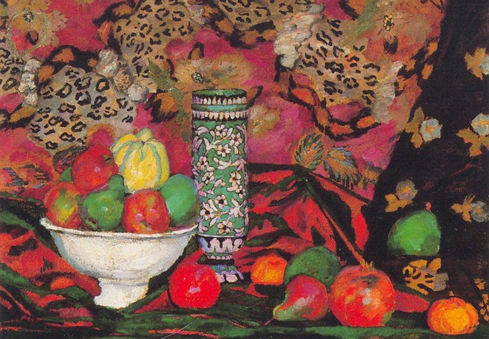 果物の静物画、イリヤー・マシコフ、1908年