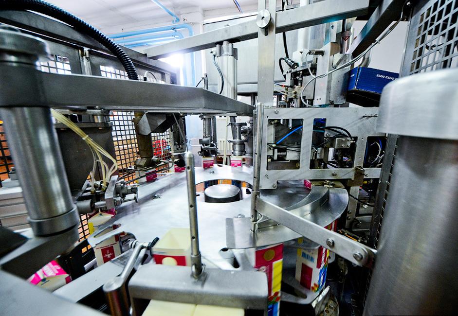Chaque jour, 70 tonnes de lait cru sont traitées dans la partie crèmerie de l'usine.
