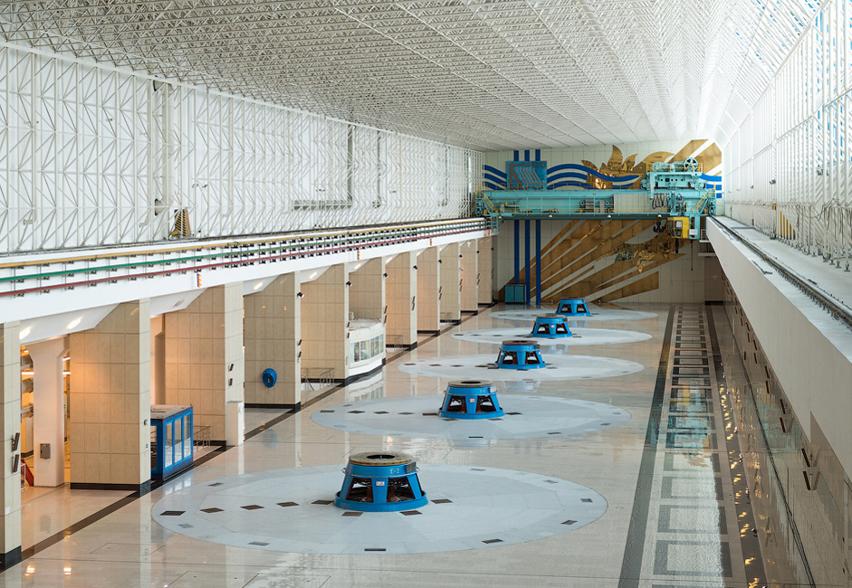 The turbine hall is 150 meters long.