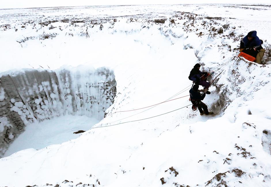 Para ilmuwan berpendapat bisa saja kawah itu akan terisi air dalam beberapa tahun dan membentuk danau kecil, yang cukup banyak terdapat di Yamal. Namun, para ilmuwan tidak yakin bagaimana danau-danau tersebut terbentuk. Salah satu teori utama yang sedang diteliti mengenai pembentukan danau-danau tersebut adalah letusan gas alam yang berkumpul di bawah bumi.
