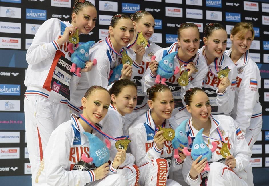Bei der Schwimm-Weltmeisterschaft 2014 in Berlin gewannen die russischen Synchronschwimmerinnen auch alle Goldmedaillen in den Duett-, Solo- und Mannschaftswettbewerben.