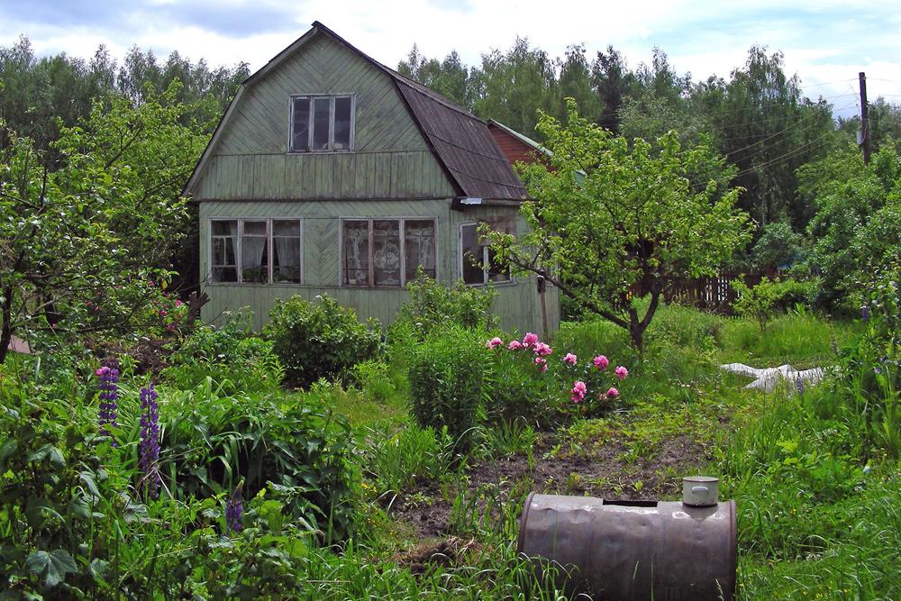 ソ連時代、ダーチャと言えば野菜や果物を育てる郊外の家を指した。家庭菜園だけではなく、家族が夏休みの週末にリラックスする場所でもあった。理想的なダーチャは、6ソトクの土地に建つ小さな家である。