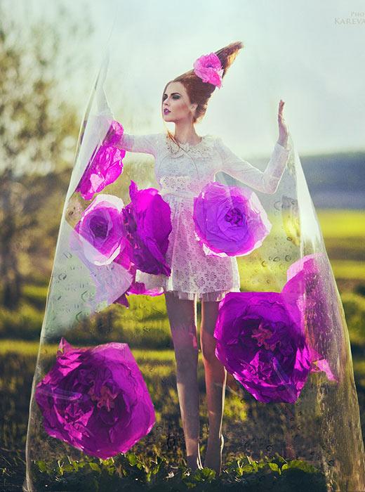 """Интересът към традиционната руска носия започва да се съживява с постановката на Дягилев """"Руски сезони"""" във Франция и се усилва от колекцията висша мода на  Пол Поаре """"а-ла-Рус""""."""