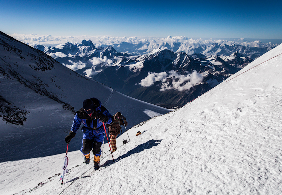 Southern Russia's Mt. Elbrus (5,642 meters) is Europe's tallest mountain and a natural destination for climbers attempting to conquer the world's highest peaks.