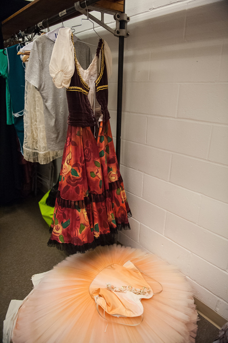Every dancer has his costumes for the performance, costumes that are custom-made for a specific build, especially with soloists. It sometimes happens that during fitting the dancers express their wishes for the costumes, and the artist takes note, especially when it concerns the principal dancers.
