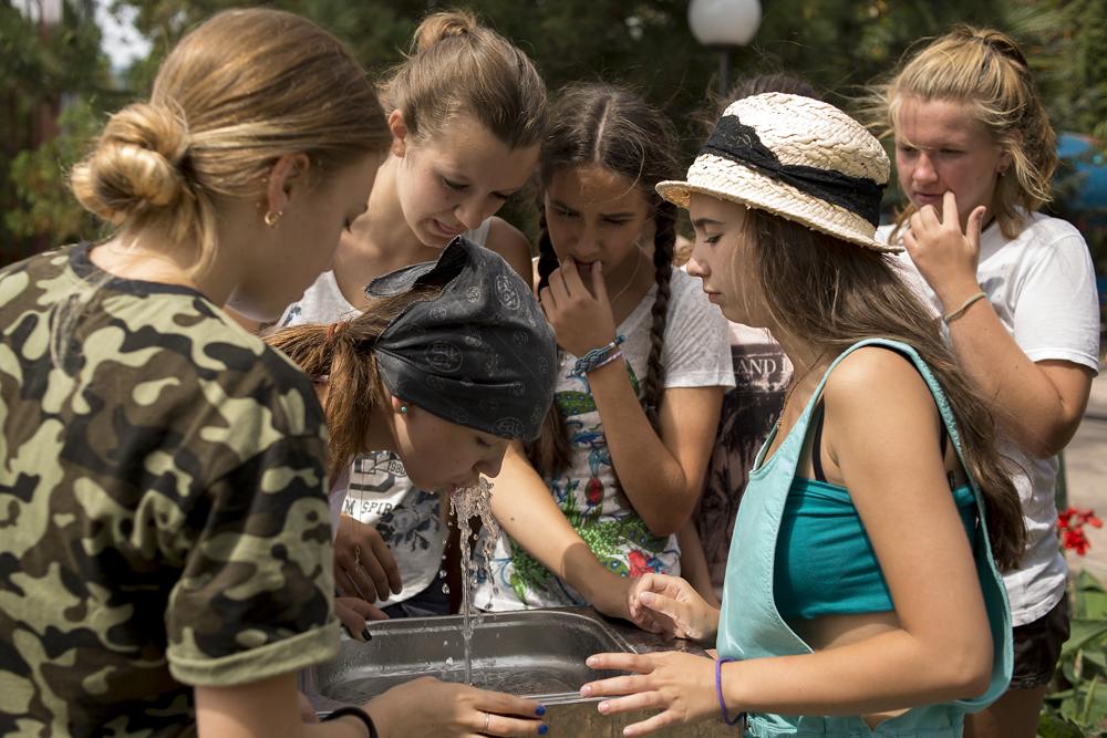 Children in Artek in Crimea.