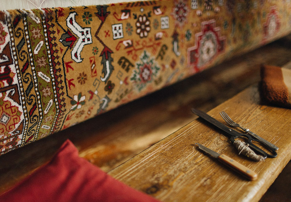 These days, rugs are a must in every Dagestani home. In poorer families, lint-free sumacs lied on the floor. Wealthier families covered piled their floors high with heavy rugs.