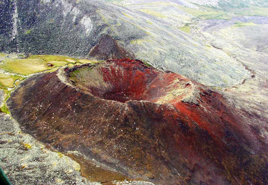 The extinct Anyuyskiy Volcano is located in an unpopulated part of Chukotka, near the Moni River. According to geological data, the Anyuyskiy's last eruption occurred approximately 500 years ago. Nothing indicates that he volcano may soon become active again. It is the only volcano in Russia with fully open lava tubes that measure 55 kilometers in length.