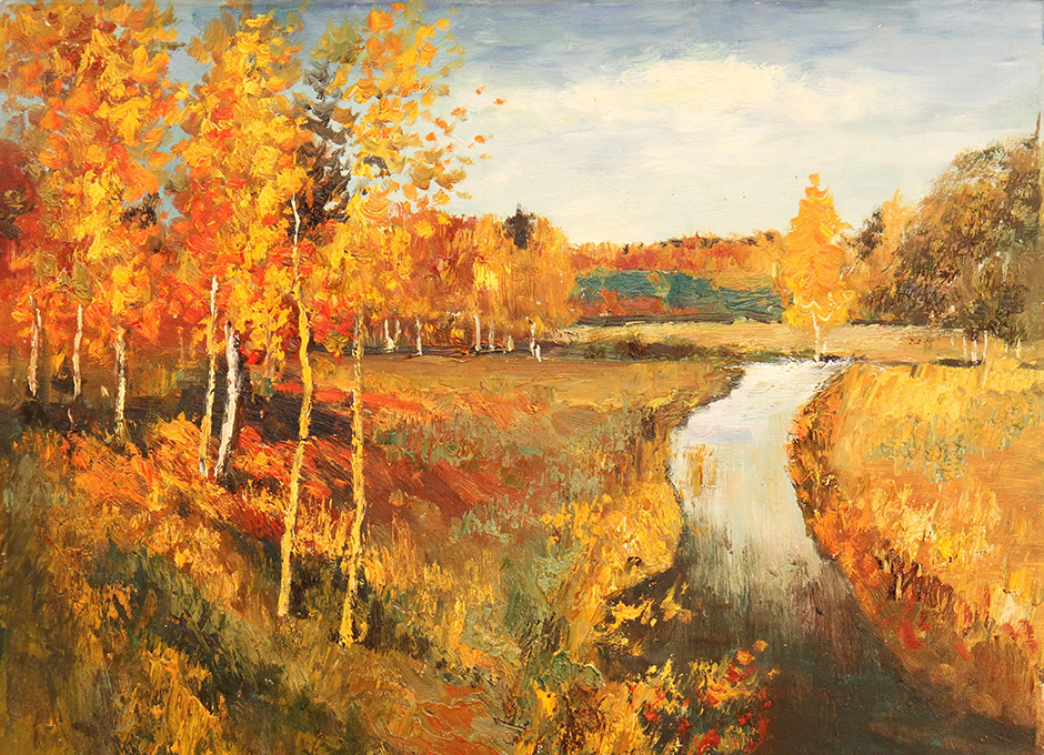 イサーク・レヴィタンは、秋を描くことをこよなく愛した。彼は合計100点をこえる秋の風景画を描いた。彼の「黄金色の秋」は、それらの中でも最も人気の作品である。 // イサーク・レヴィタン、「黄金色の秋」、1895年
