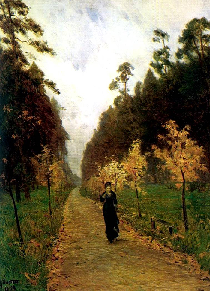 «Autumn Landscape. Sokolniki» is a unique landscape by Levitan, which depicts a woman strolling through a park. What's interesting is that the figure of the woman was not painted by Levitan himself, but his friend, the painter Nikolai Chekhov, brother of Anton Chekhov. // Isaac Levitan «Autumn Landscape. Sokolniki», 1879