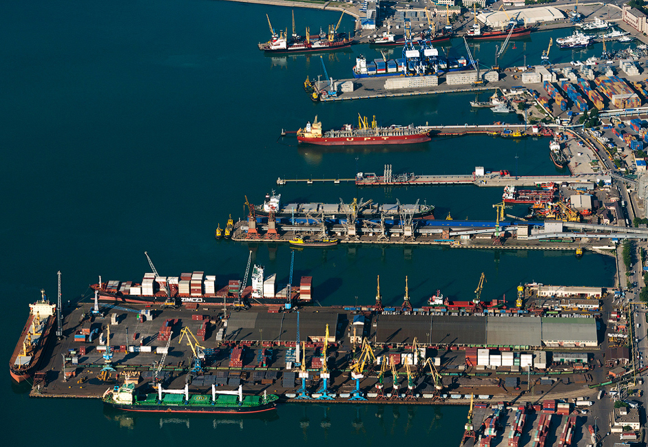The port covers an area of 238 hectares (588 acres).