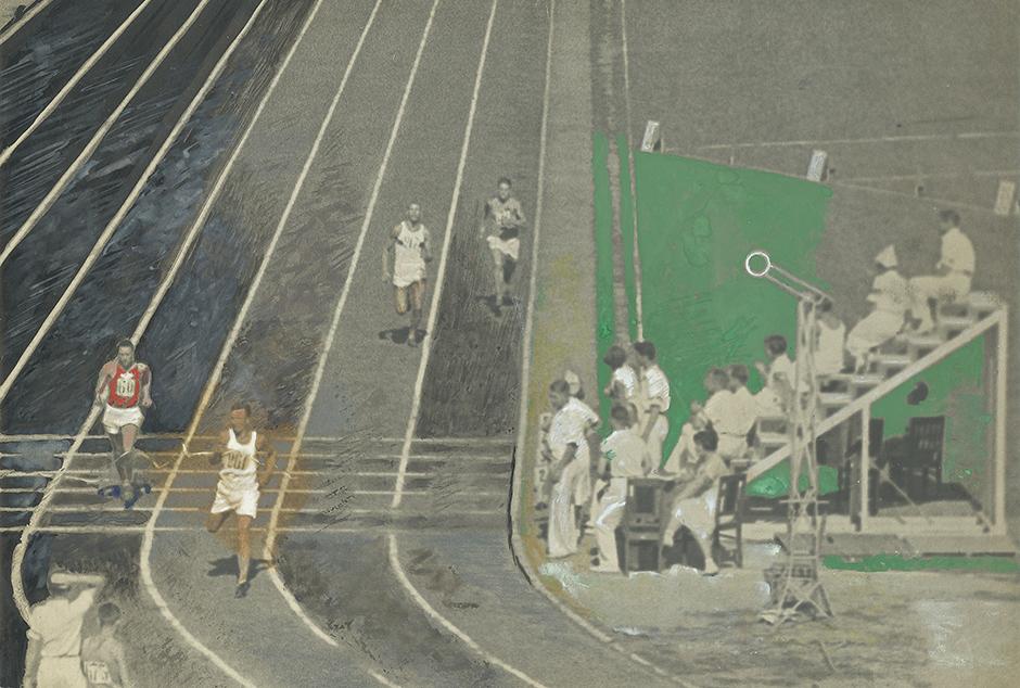 La Course. Stade Dynamo, 1935