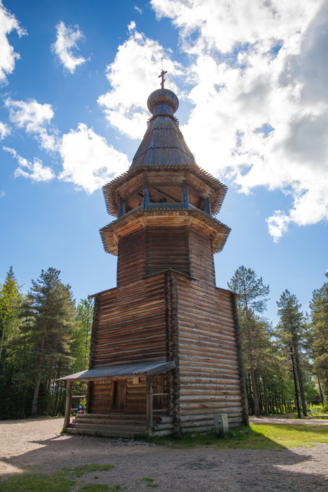 Bell tower, 1854, Arkhangelsk region. This is a typical nine-column bell tower. // Construction of the open-air museum began 50 years ago, and the first visitors walked through its its gates on June 1, 1973. Today the museum covers 139.8 hectares of land.