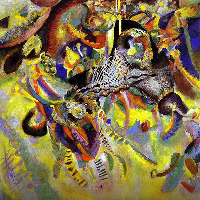 "Vasily Kandinsky ""Fuga (Fugue"", 1914 – $22.9 million. This painting set a price record back in 1990 when nobody dared to buy it. The good part about that is that now anyone can admire it at the private Foundation Beyeler in Switzerland."