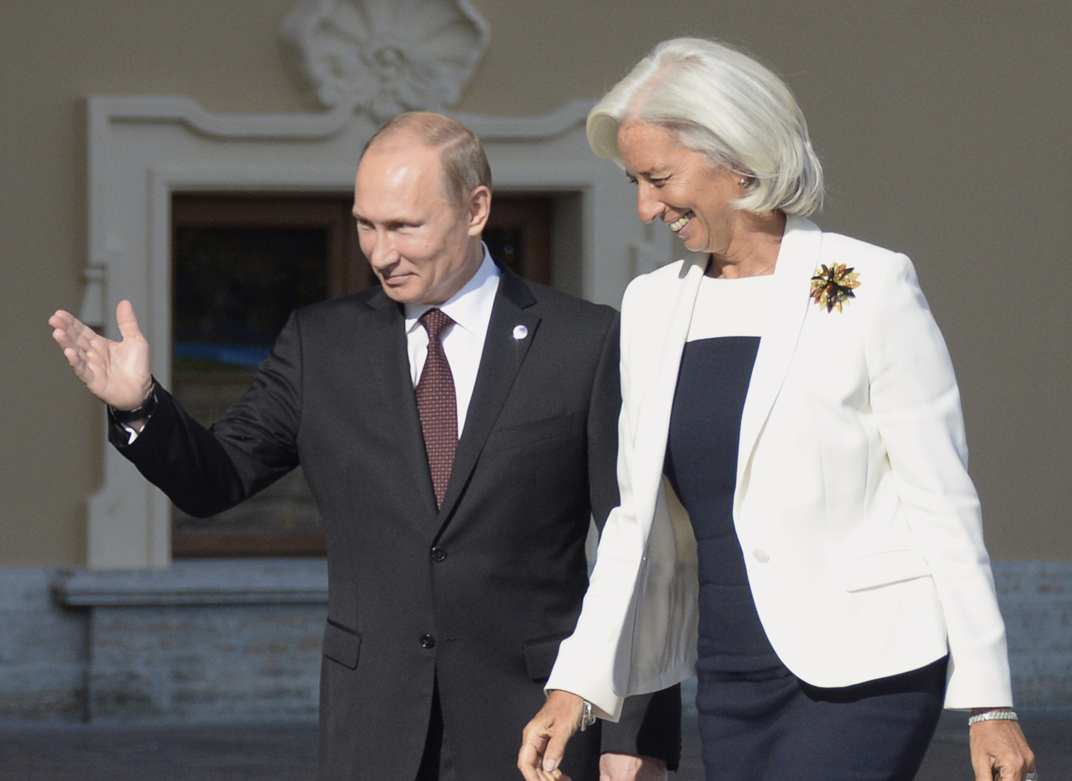 3/10. Директорка ММФ-а Кристин Лагард у Путиновом друштву за време самита Г-20 у његовом родном Санкт Петербургу.