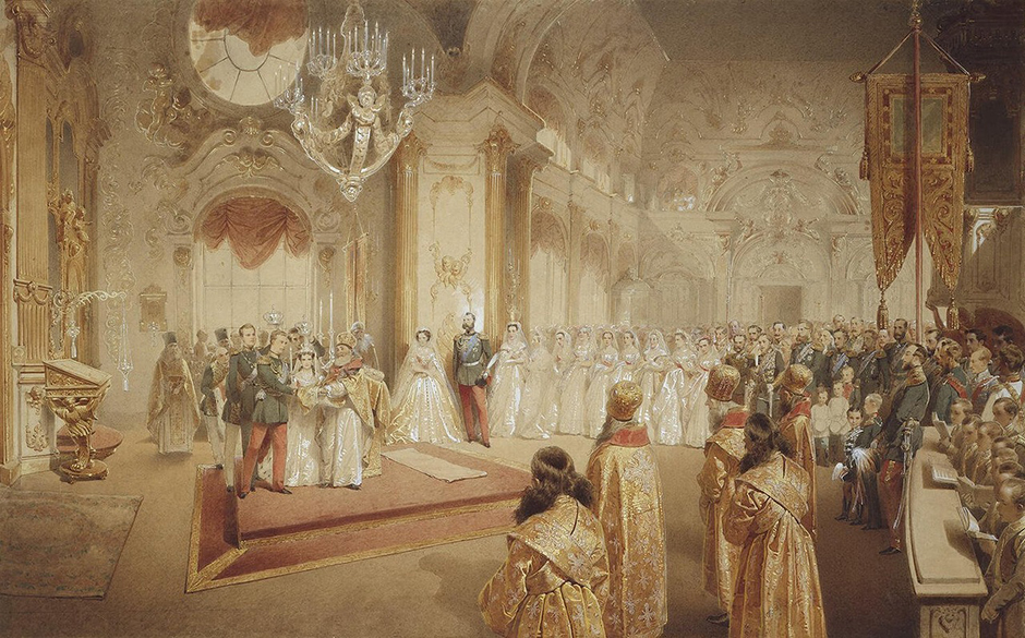 ジチは1847年にサンクト・ペテルブルクに到着した。彼はエカチェリーナ・ミハイロヴナに絵画を教えるだけではなく、ペテルブルグの貴族の家を周り、レッスンをした。