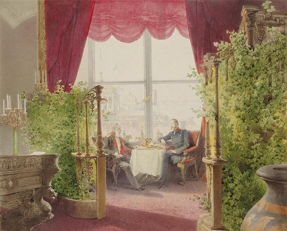 1859年にジチは宮廷画家に任命され、1873年まで務めた。この15年間、彼は皇帝の狩りから皇族に親しい人物の風刺画まで、宮廷生活にまつわるありとあらゆる絵を描いた。
