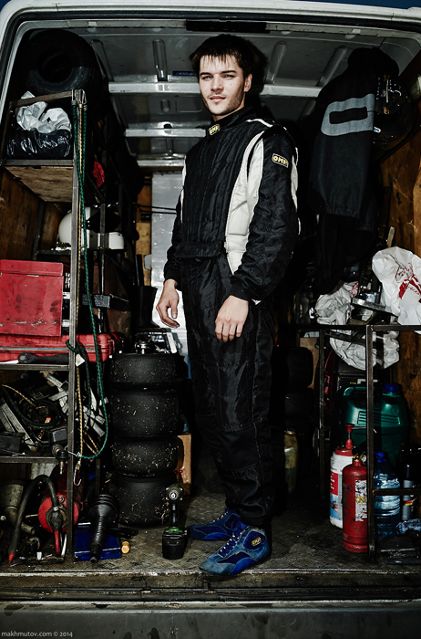 Zhenya, from Chelyabinsk, 21, has been racing since he was 7. Building and maintaining a race track also requires large amounts of money. Everything has to be paid for, but these drivers would do anything to get on the path to their big goal in life.