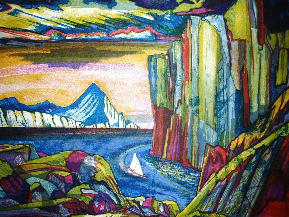 Outre les œuvres de Konioukhov, l'exposition présente des objets ramenés au cours de ses expéditions. Parmi eux figurent les rames qu'il a utilisées pour traverser le Pacifique en 159 jours, son équipement pour l'ascension de l'Everest, et d'autres articles qui ont voyagé dans les endroits les plus extrêmes de la planète. // Le fjord Nansen, 1983
