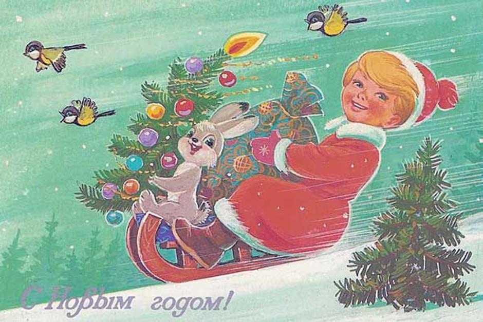 Novo leto 1935-36 so tako po vsej državi praznovali v družbi lepo okrašenih drevesc in doma narejenih voščilnic. Novo leto je postalo sestavni del sovjetskega življenja.
