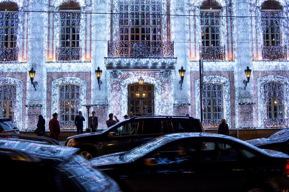 I kuće su poput dvoraca od leda. Uživajte u zimskim praznicima u Moskvi!