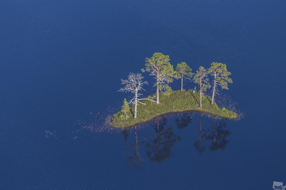 平穏。「オネジ海岸地帯」国立公園、アルハンゲリスク州。