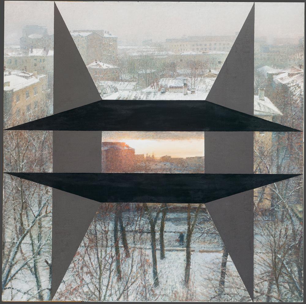 Depuis la fenêtre de l'atelier (une coure moscovite), O. Vassiliev. 1990
