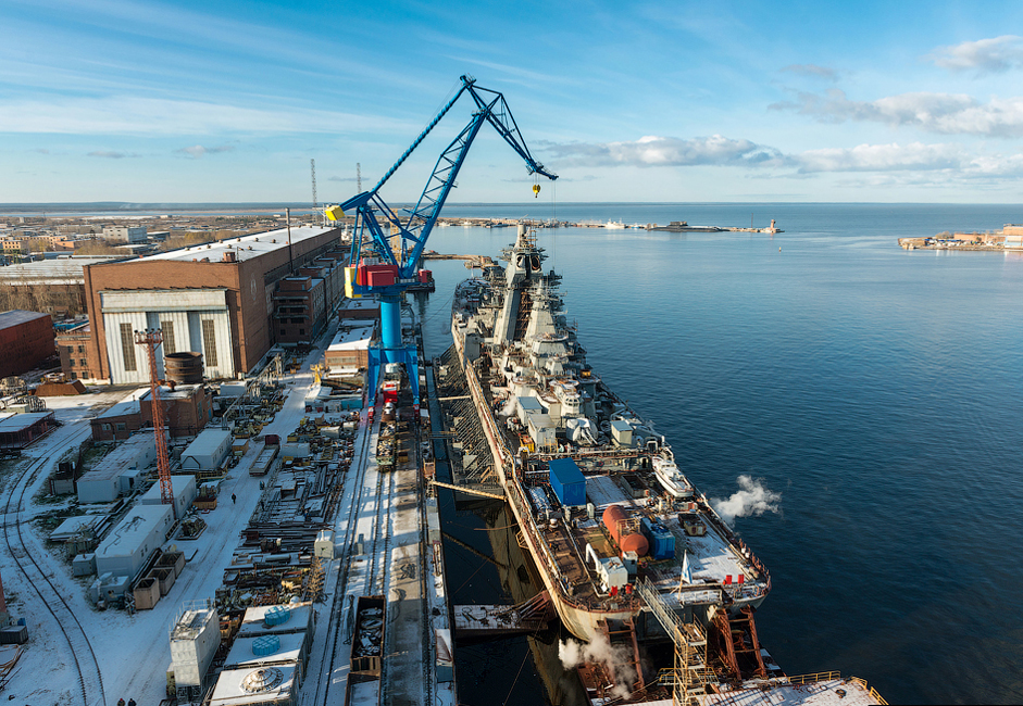 The United Shipbuilding Corporation is the largest ship manufacturer in Russia.