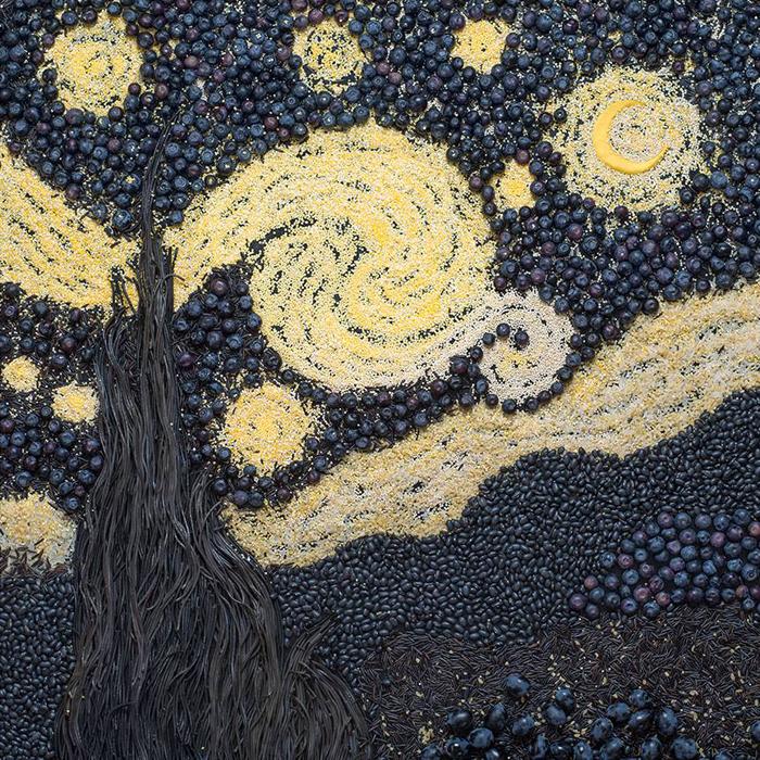 """Vincent Van Gogh, """"Zvjezdano nebo"""", 1889. """"Ovo je jedna od najvećih slika. Trebalo mi je nekoliko sati da je složim jer se sastoji od mnoštvo sitnih dijelova i različitih smjerova linija."""